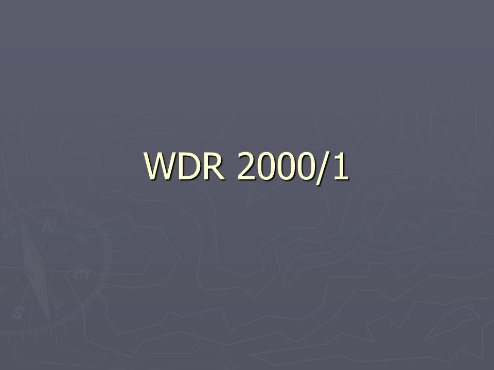 WDR 2000/1, discussion ► The WDR does not argue that increasing wealth is a necessary, let alone sufficient, condition for poverty reduction  Interpreting WDR figures below indicates why ► We can explore the relationship between data and arguments by looking closely at these figures  The are excellent examples of data revealing more on close examination than first meets the eye.