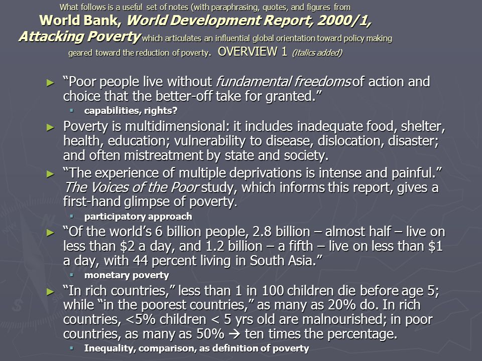 Note the statement atop this figure presents a correlation, a statistical pattern; it ALSO implies causality: more wealth means less poverty.