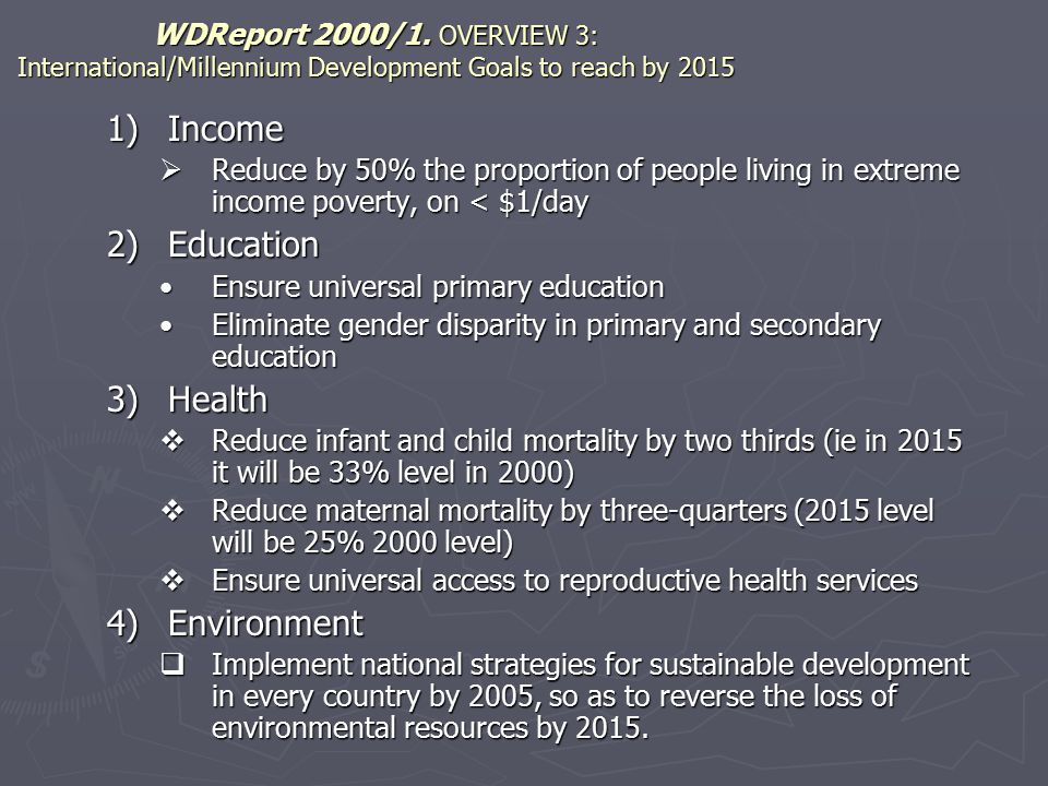 World Bank initiatives 1