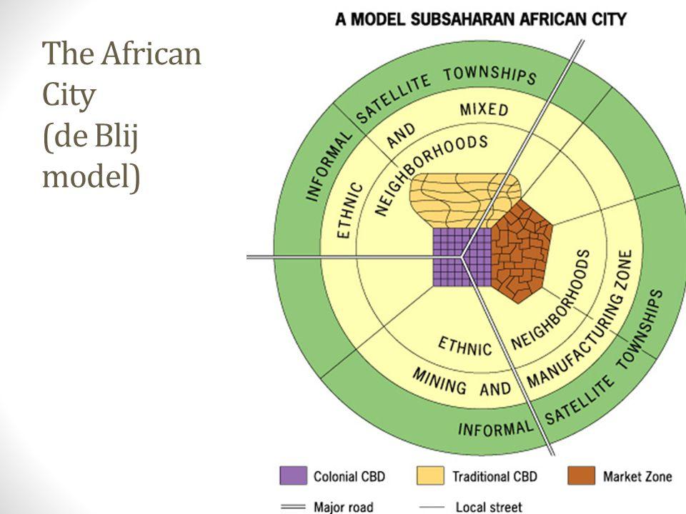 The African City (de Blij model)
