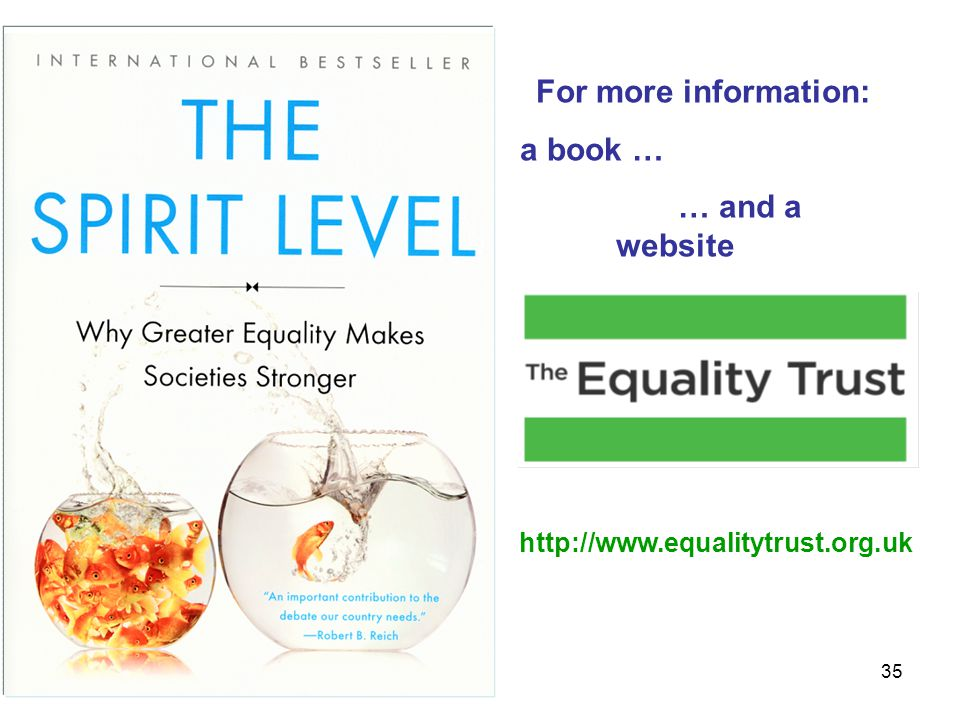 35 http://www.equalitytrust.org.uk For more information: a book … … and a website