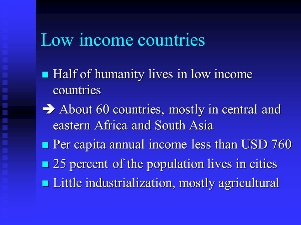 The world according to incomes