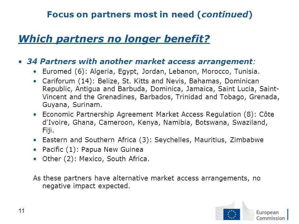 Which partners no longer benefit.
