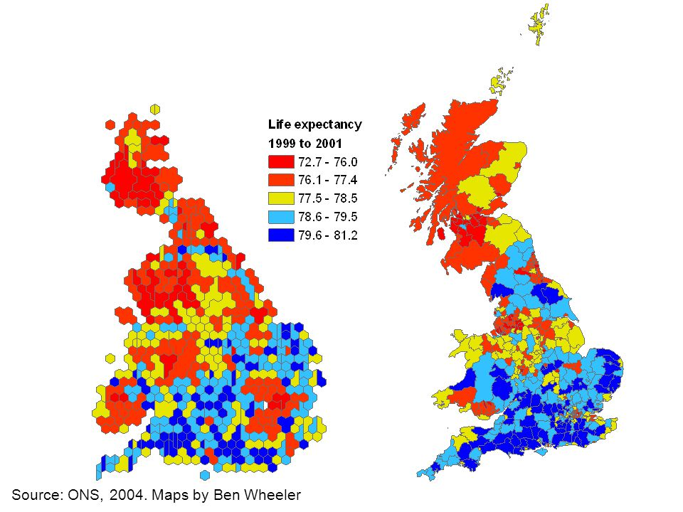 Source: ONS, 2004. Maps by Ben Wheeler