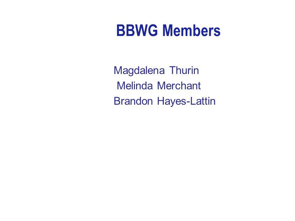 BBWG Members Magdalena Thurin Melinda Merchant Brandon Hayes-Lattin