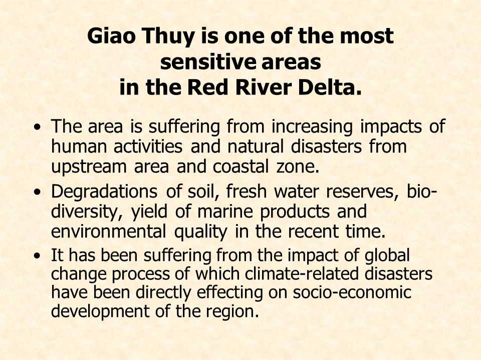Giao Thuy is one of the most sensitive areas in the Red River Delta.
