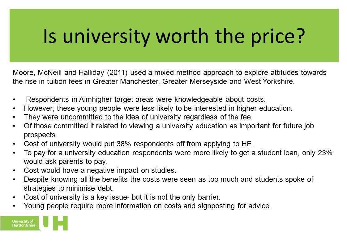 Is university worth the price.
