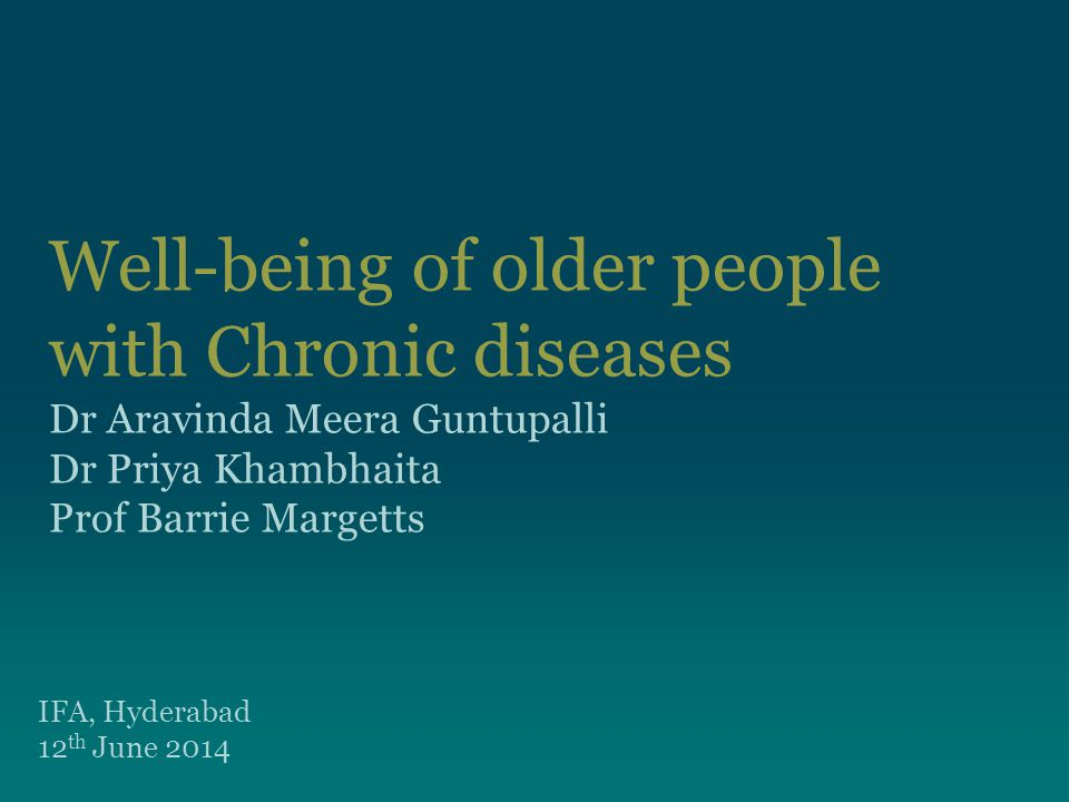 Living alone Living alone is more among poorer people Richer older people are likely to live together and chronic disease reporting is more among richer people There is a weaker bivariate association between chronic diseases and living arrangements 12