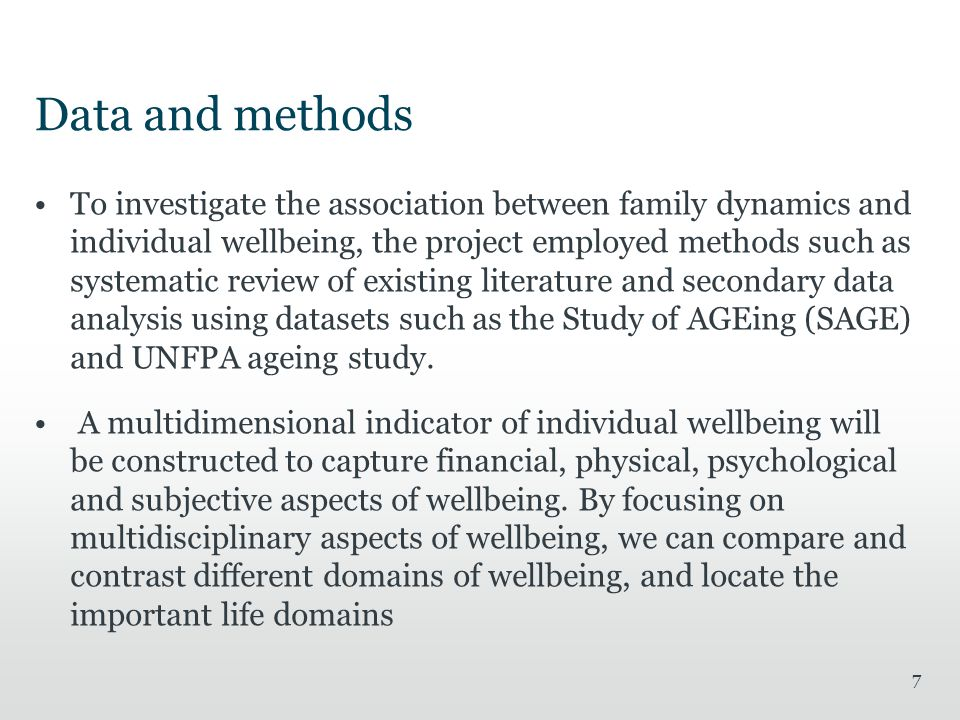 8 Well-being of older people with Chronic diseases More than 30% of the older people aged 60 and above have reported chronic diseases such as asthma, hypertension, diabetes, stroke and angina –WHO SAGE data provides objective than self-reported data Males have reported slightly higher levels of chronic diseases, and urban respondents are more likely to have chronic diseases in later life compared to rural respondents Between 33% and 40% of the respondents with chronic diseases are widowed, and they seek support from other family members The paper further compares and contrasts well-being indicators of older people with chronic diseases with well-being of older people without chronic diseases