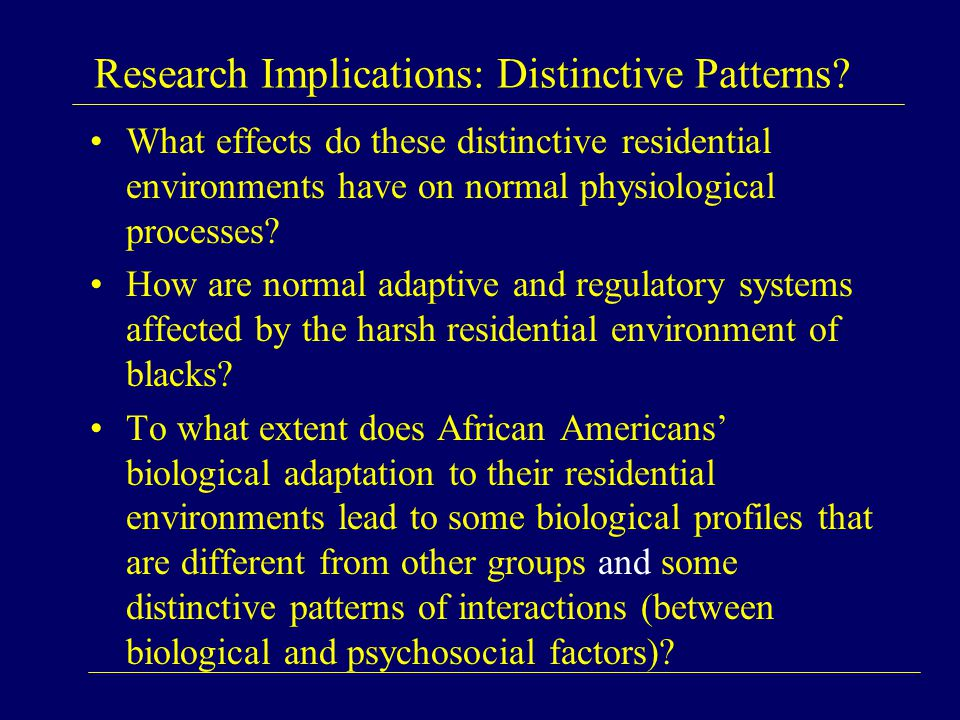Research Implications: Distinctive Patterns.