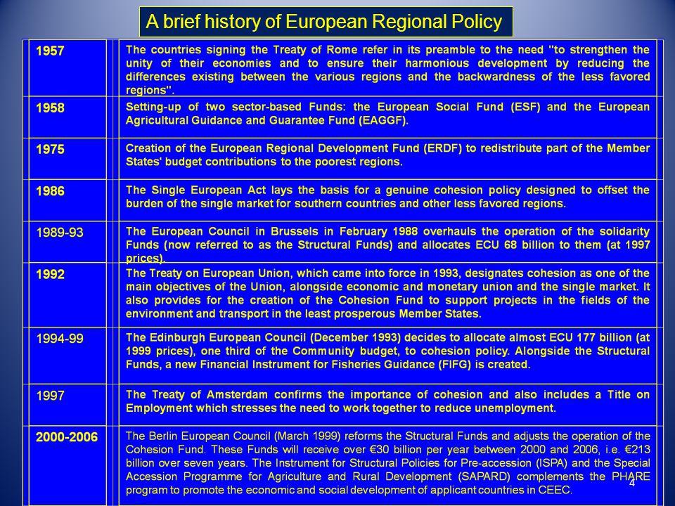 A brief history of European Regional Policy 4
