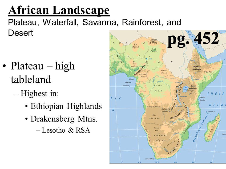Major Rivers 1.Niger 2.Congo 3.Blue Nile 4.Victoria/White Nile 5.Zambezi