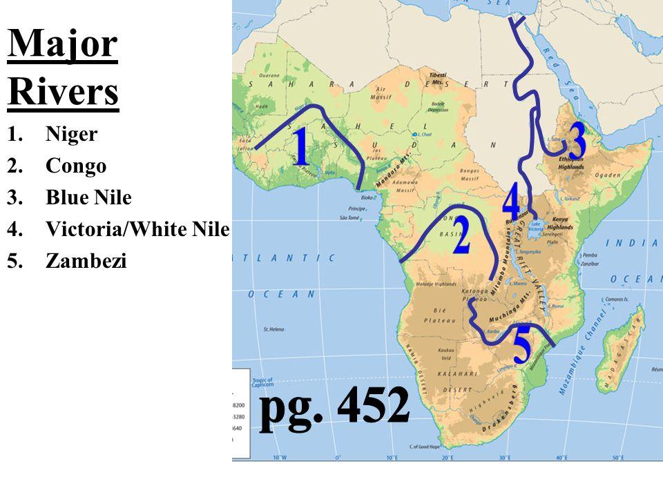 Climate and Vegetation Tropical Rainforest –Congo Basin & coast of W.