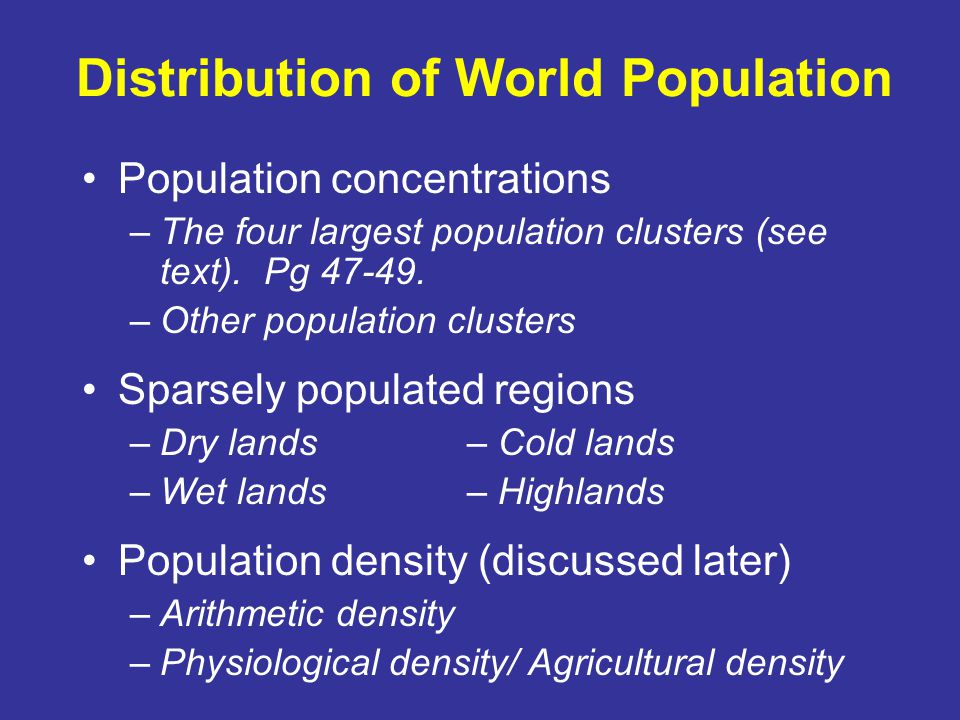 Variations in Population Growth The Demographic Transition Stages –1.
