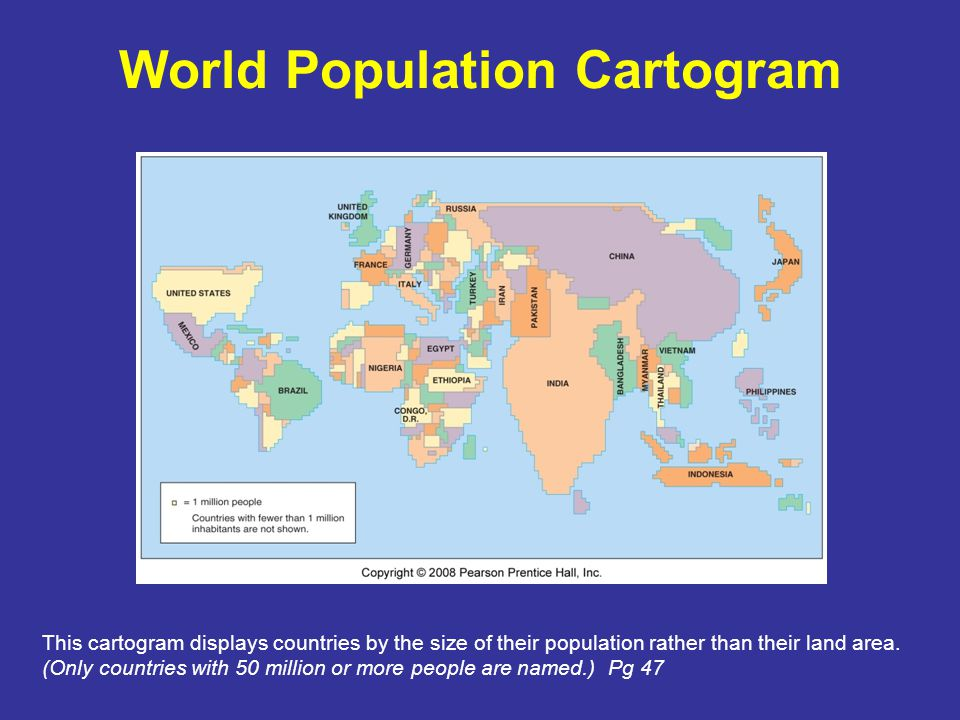 World Population Distribution World population is very unevenly distributed across the Earth's surface and it can be compared to climate distribution.