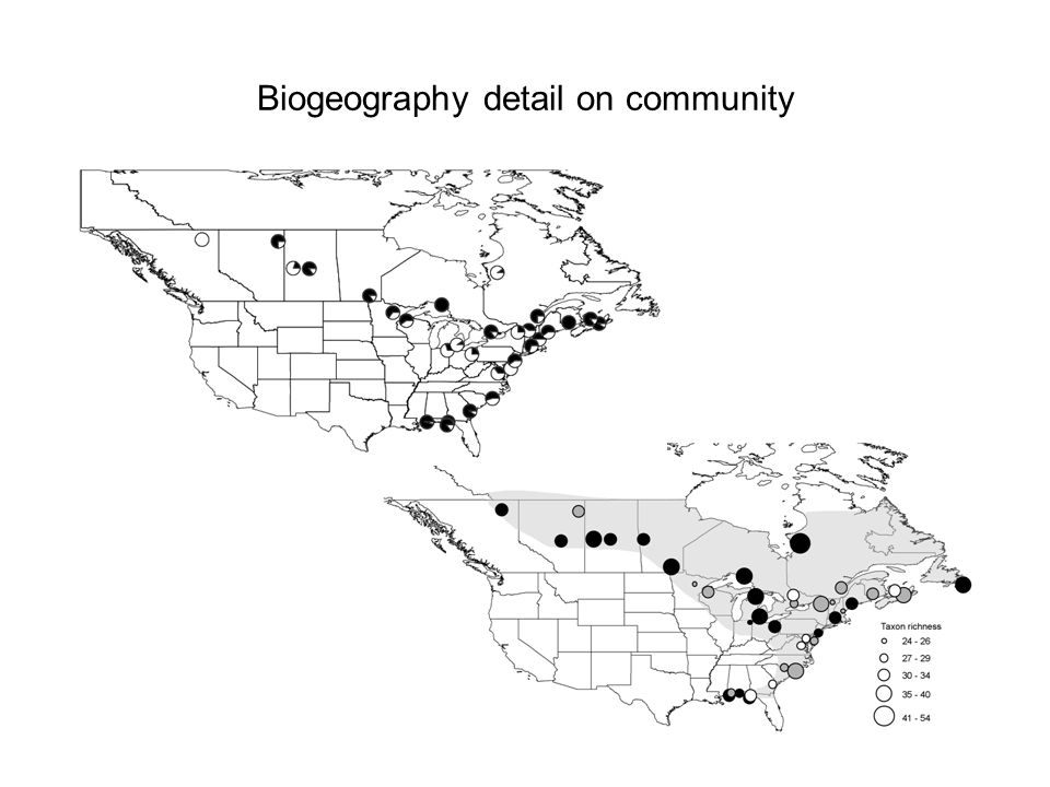 Biogeography detail on community