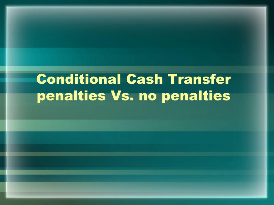 Conditional Cash Transfer penalties Vs. no penalties
