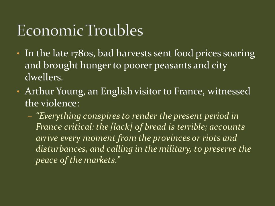 The heirs of Louis XIV were not the right men to solve the economic crisis that afflicted France.