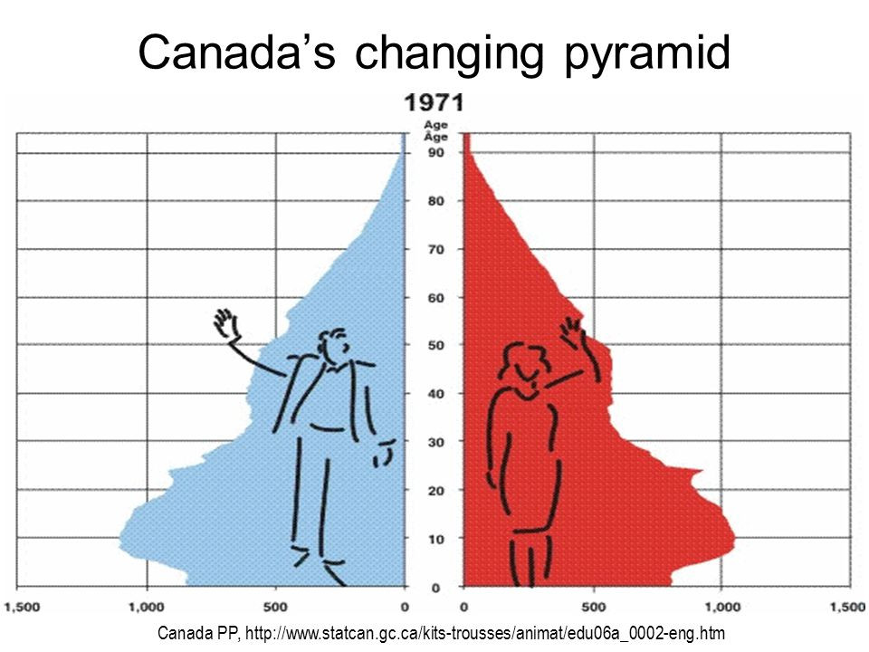 Canada's changing pyramid Canada PP, http://www.statcan.gc.ca/kits-trousses/animat/edu06a_0002-eng.htm