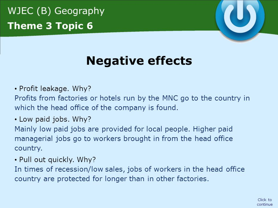 WJEC (B) Geography Theme 3 Topic 6 Click to continue Poor safety record.
