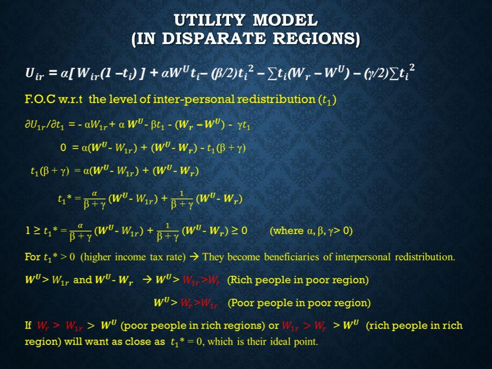 UTILITY MODEL (IN DISPARATE REGIONS)