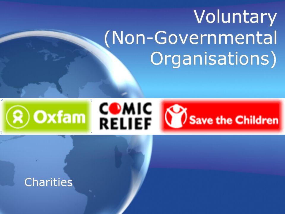 Voluntary (Non-Governmental Organisations) Charities