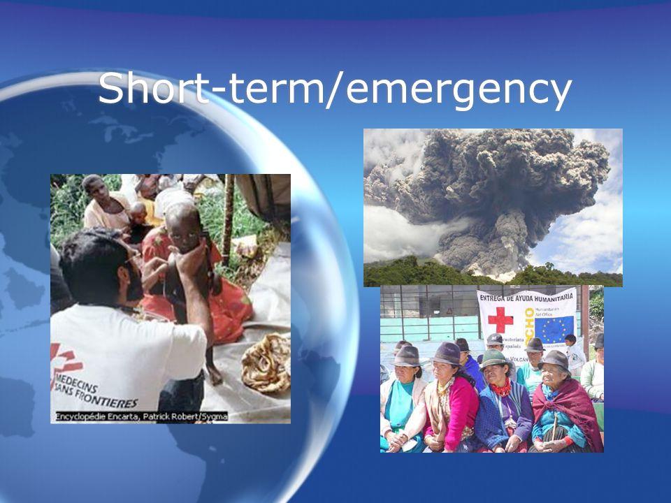 Short-term/emergency