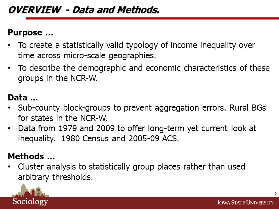 KEY FINDINGS...inequality and socioeconomics. The results are mixed for rising inequality places.