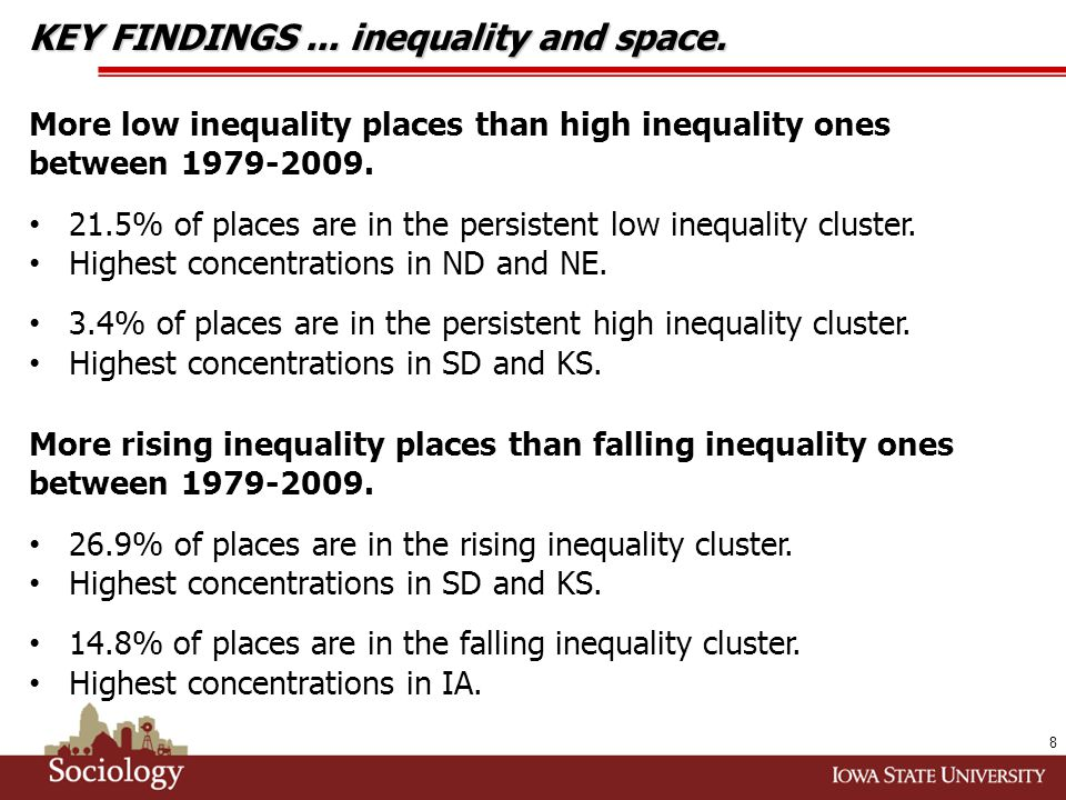 9 KEY FINDINGS... inequality and space.
