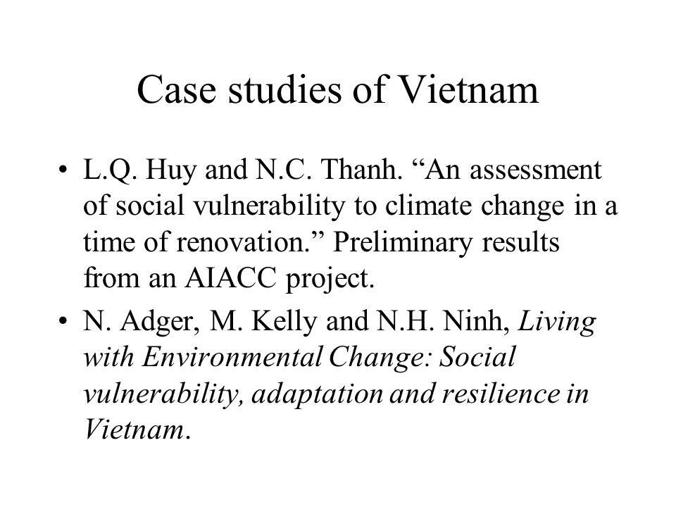 Household income and cyclone losses Shrimp farmers Income Losses Income Losses Rice farmers Millions VND (1998) Source: Huy & Thanh, preliminary results.