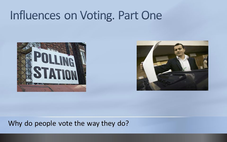 Why do people vote the way they do?