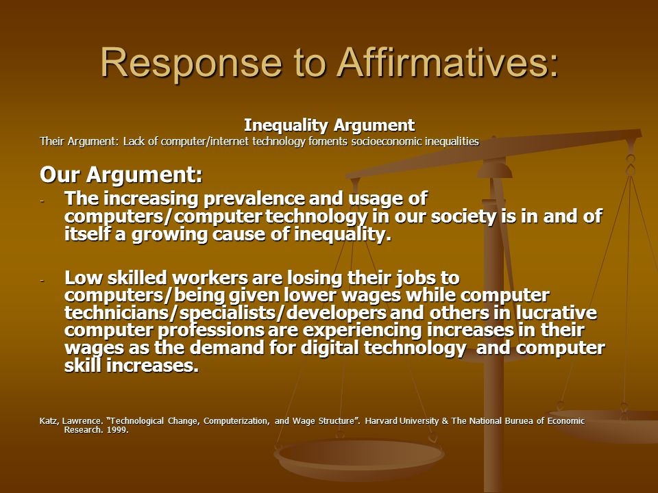 Dissenting Arguments