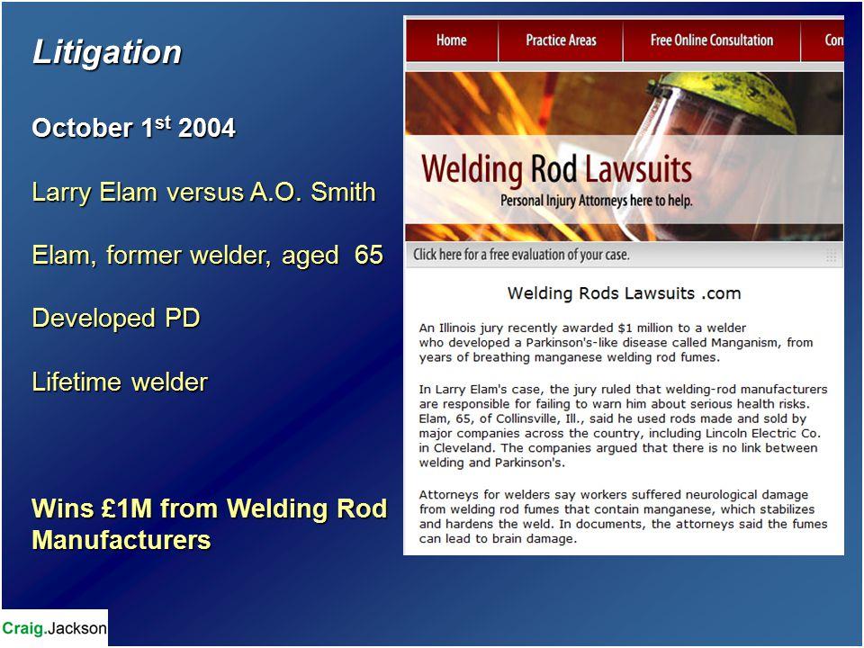 Litigation October 1 st 2004 Larry Elam versus A.O.
