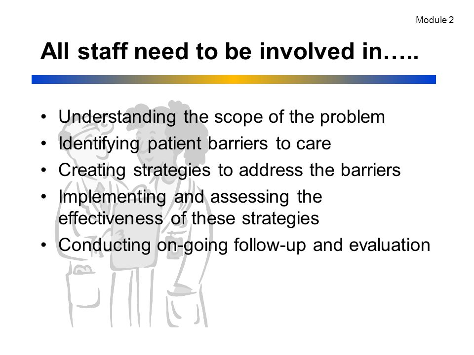 All staff need to be involved in…..