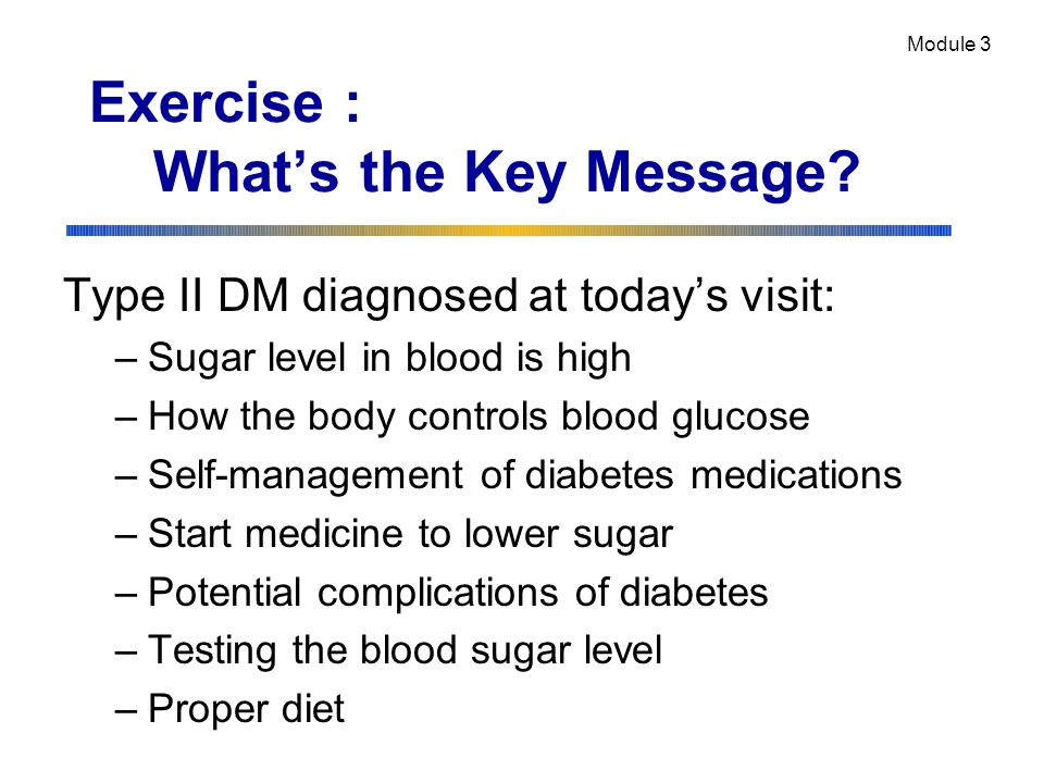 Exercise : What's the Key Message.