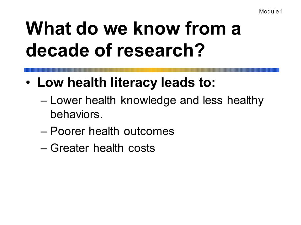 What do we know from a decade of research.