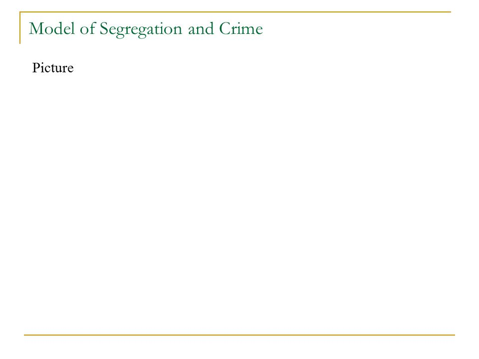 Model of Segregation and Crime Picture