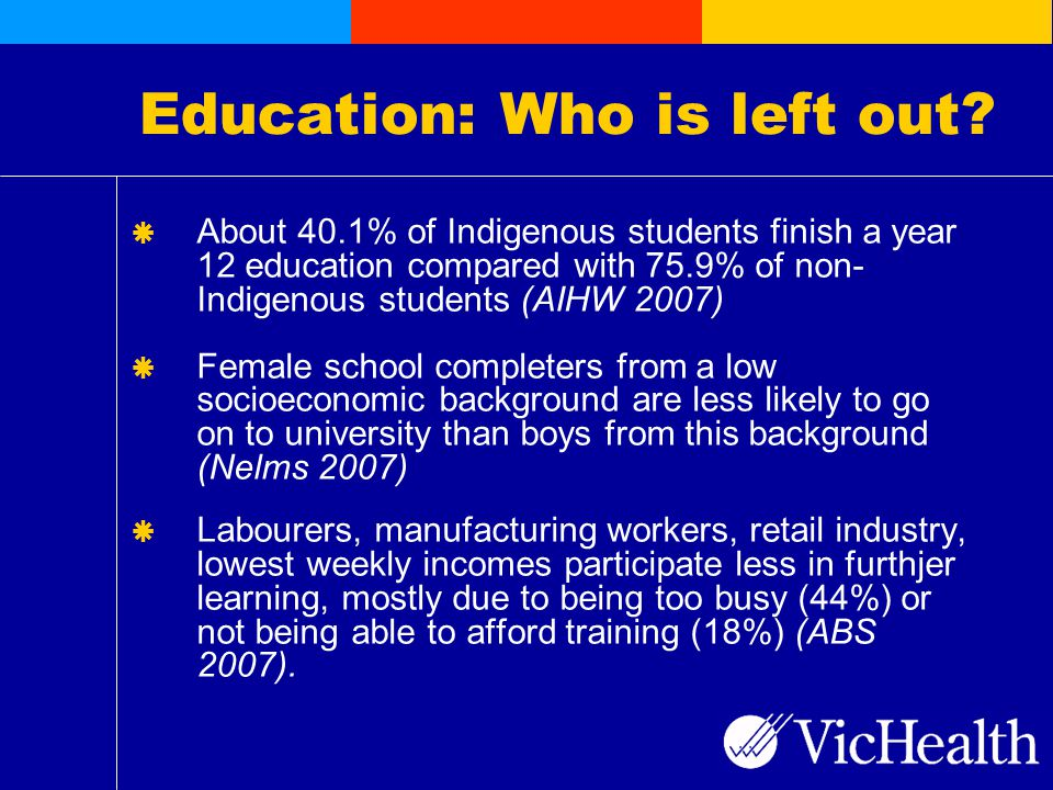 Education: Who is left out.