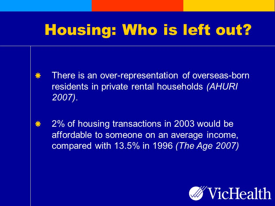 Housing: Who is left out.
