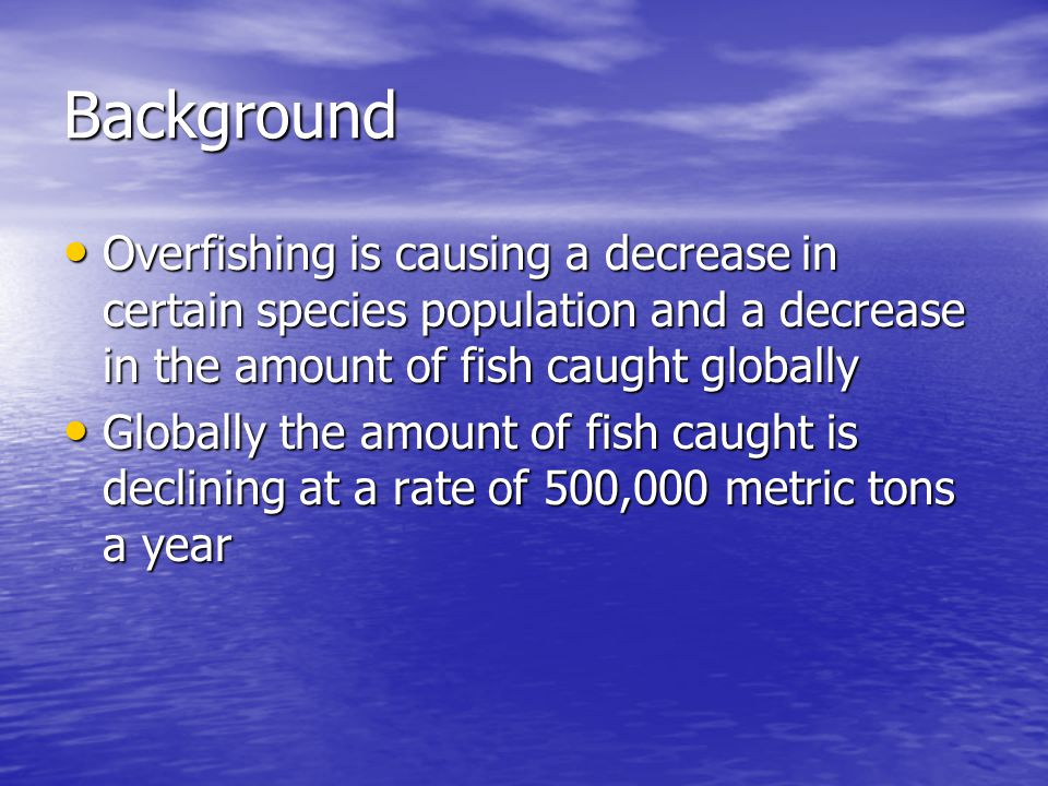 Global Decline in Fish Landings