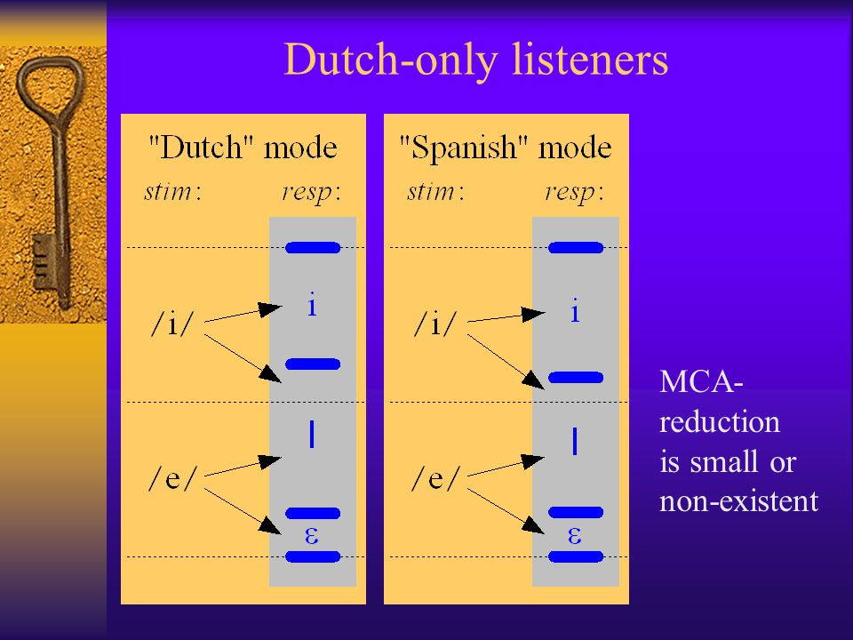 Dutch-only listeners MCA- reduction is small or non-existent