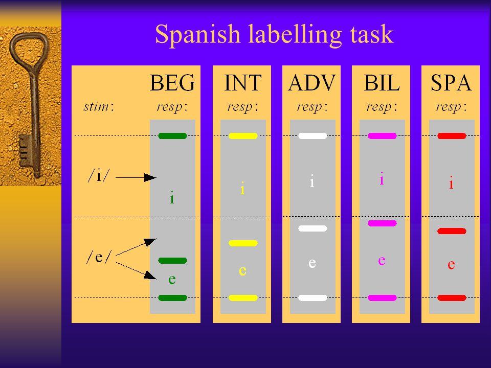 Spanish labelling task