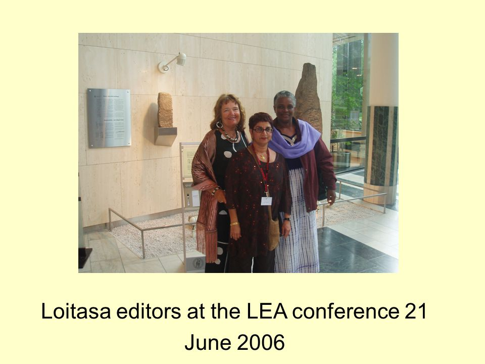 Loitasa editors at the LEA conference 21 June 2006