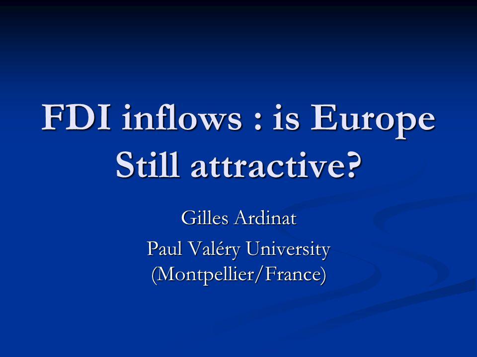 FDI inflows : is Europe Still attractive.
