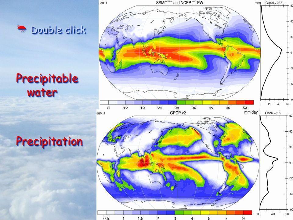  Double click Precipitable water Precipitation  Double click Precipitable water Precipitation