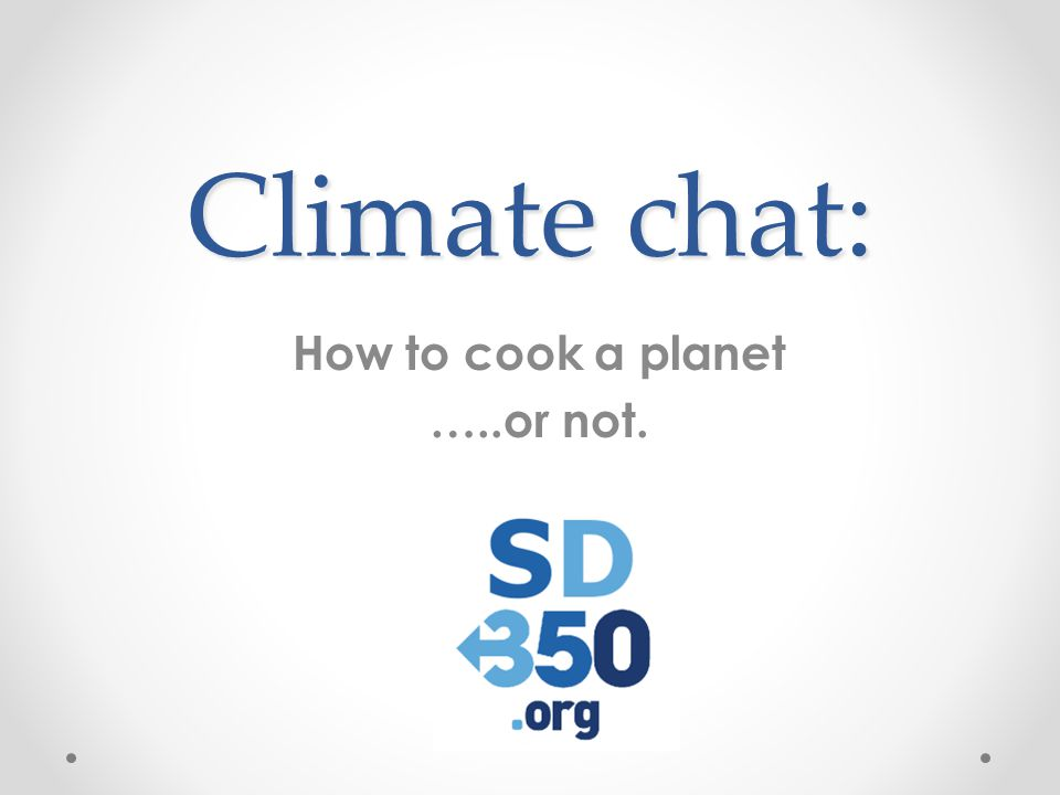 Climate chat: Food & Climate