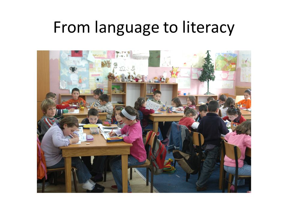 From language to literacy