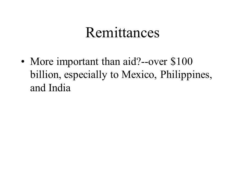 Debt Relief Since mid 90s, a major issue, with roughly 30 countries receiving relief