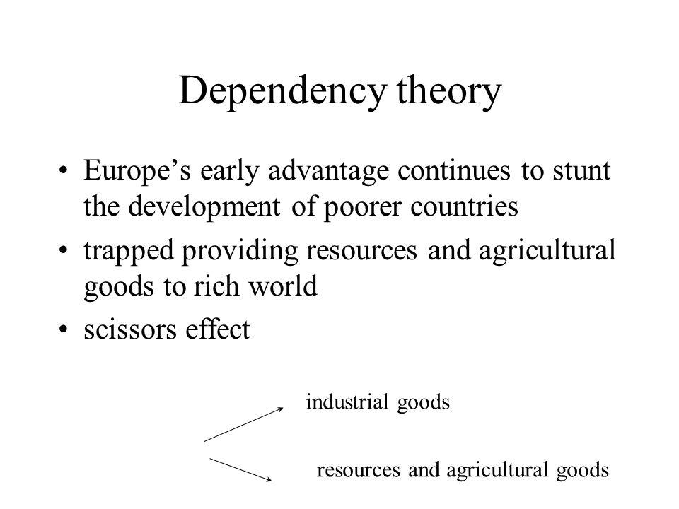 Modernization theory on different points of the same path undevelopedSemi-developedHighly developed