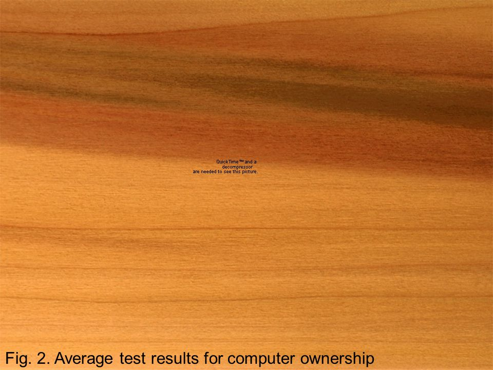 Fig. 2. Average test results for computer ownership